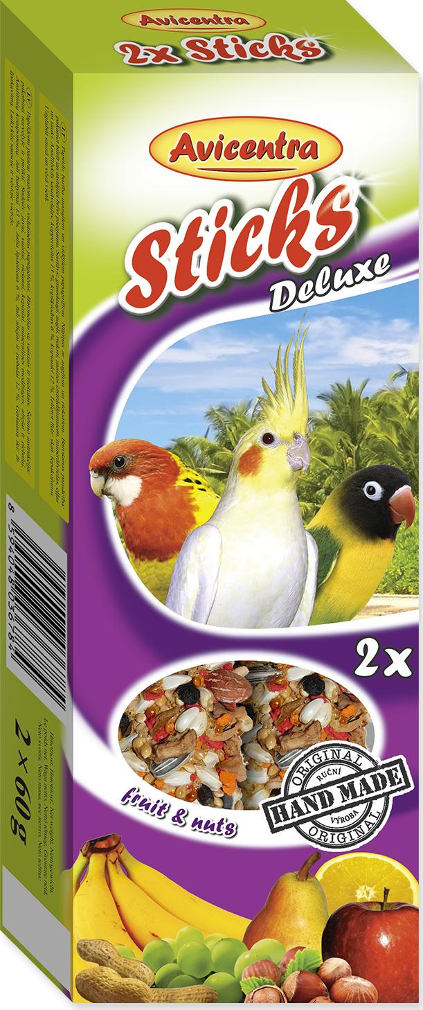 Tyčinky AVICENTRA ovocno - ořechové pro malé papoušky 2tyčinky